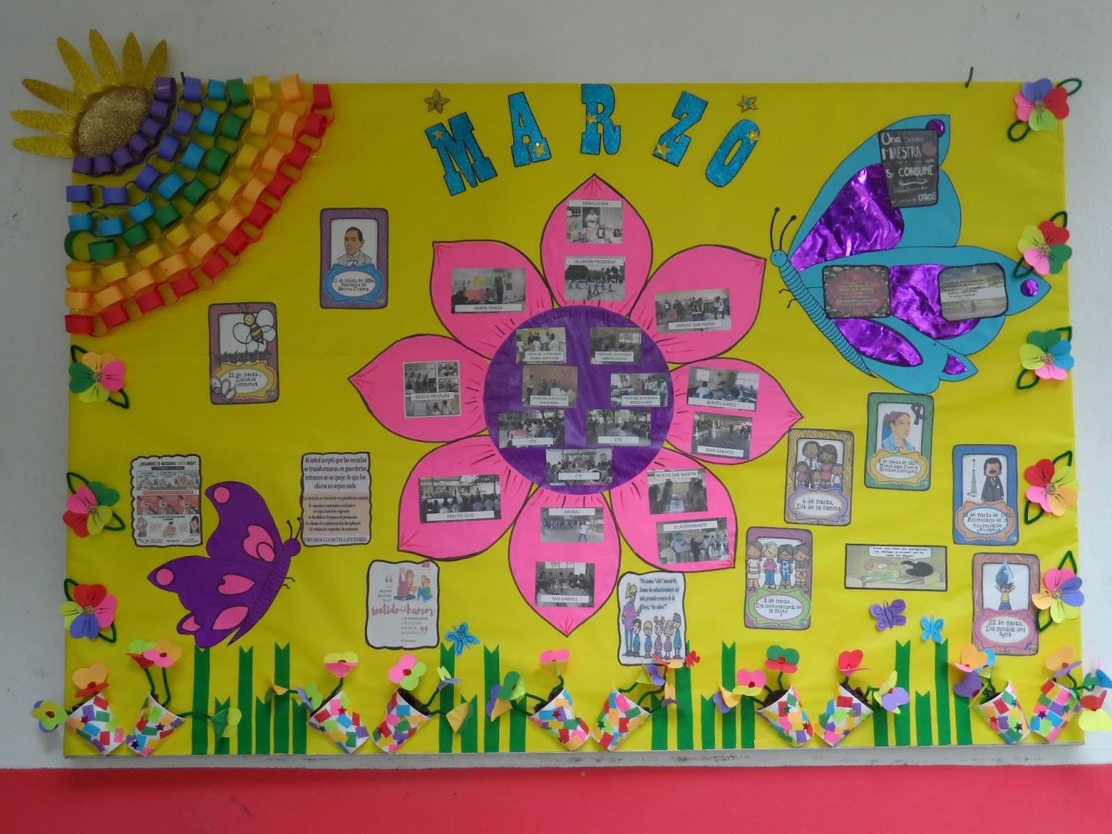 Modelo de un periodico mural para inicial para el dia for Diario mural escolar