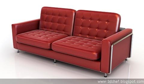 free 3d model modern sofa