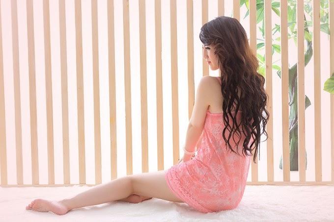 Đầm ngủ thun lưới họa tiết