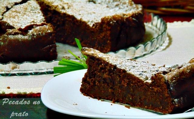 Receita de bolo mousse chocolate