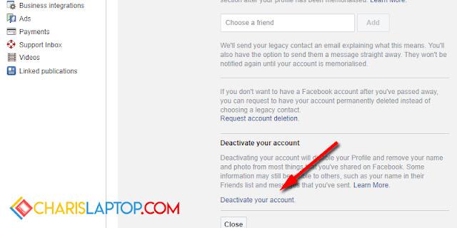 Cara Menghapus Facebook Sementara