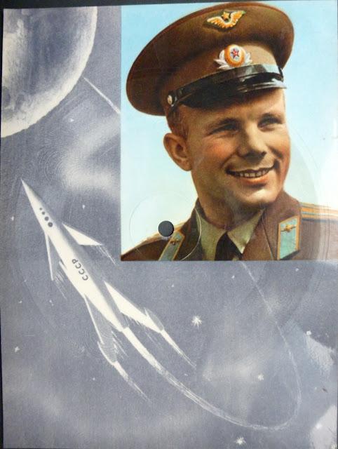 Gagarin post-card record