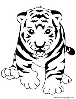 Adorable Tt For Tiger Coloring Pages For Kids