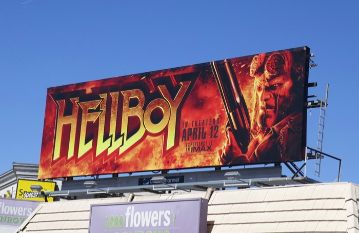 Hellboy 2019 movie billboard