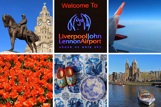 The Butterfly Balcony - Wendy's Week Liverpool to Amsterdam - The Liver Building // A warm welcome at John Lennon Airport // Saying goodbye to the Norfolk coastline // Tulips at the Keukenhof // Souvenirs of our trip // A a view across the Amstel to the Basilica of St. Nicholas