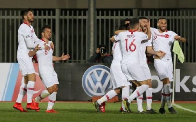 Türkiye Arnavutluk'u 2-0 mağlup etti.