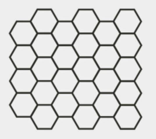 黑白的六角形