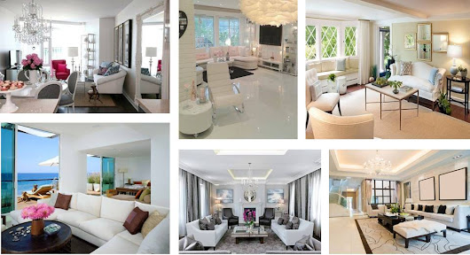 Architecture & Design: COOL WHITE COLOR LIVING ROOMS DESIGN IDEA