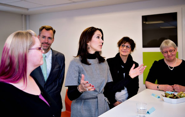 Crown Princess Mary of Denmark visited Odense Mothers' shelter together with members of Mary Foundation