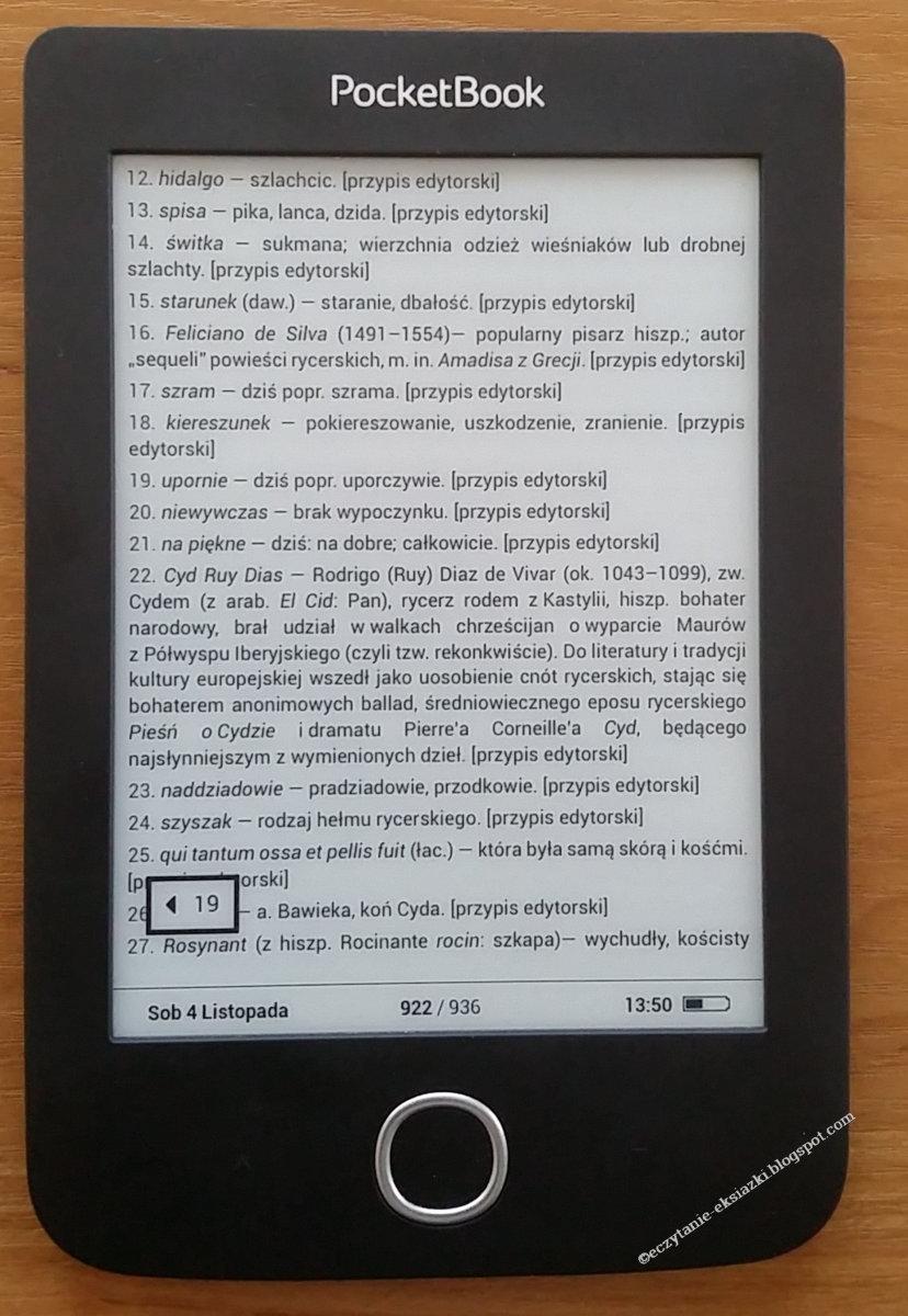PocketBook Basic 3 - po przeniesieniu do przypisu
