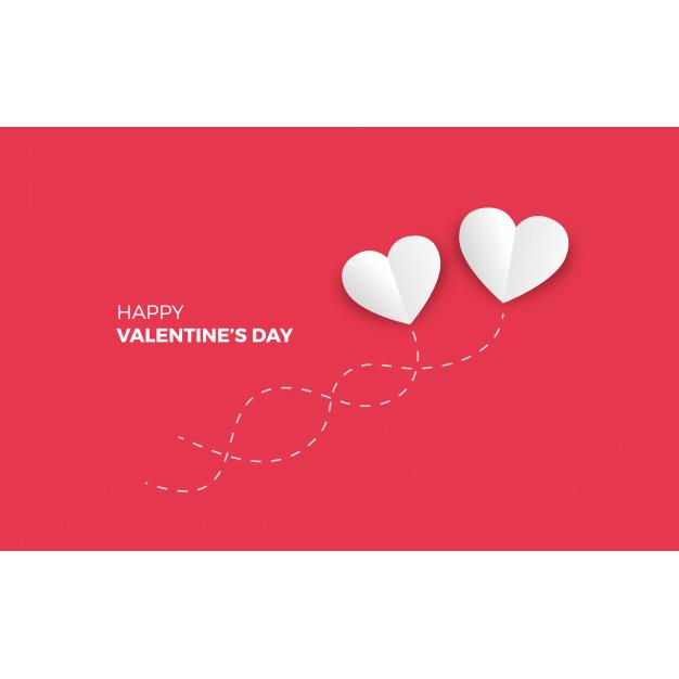 Minimalistic valentine's day background Free Vector