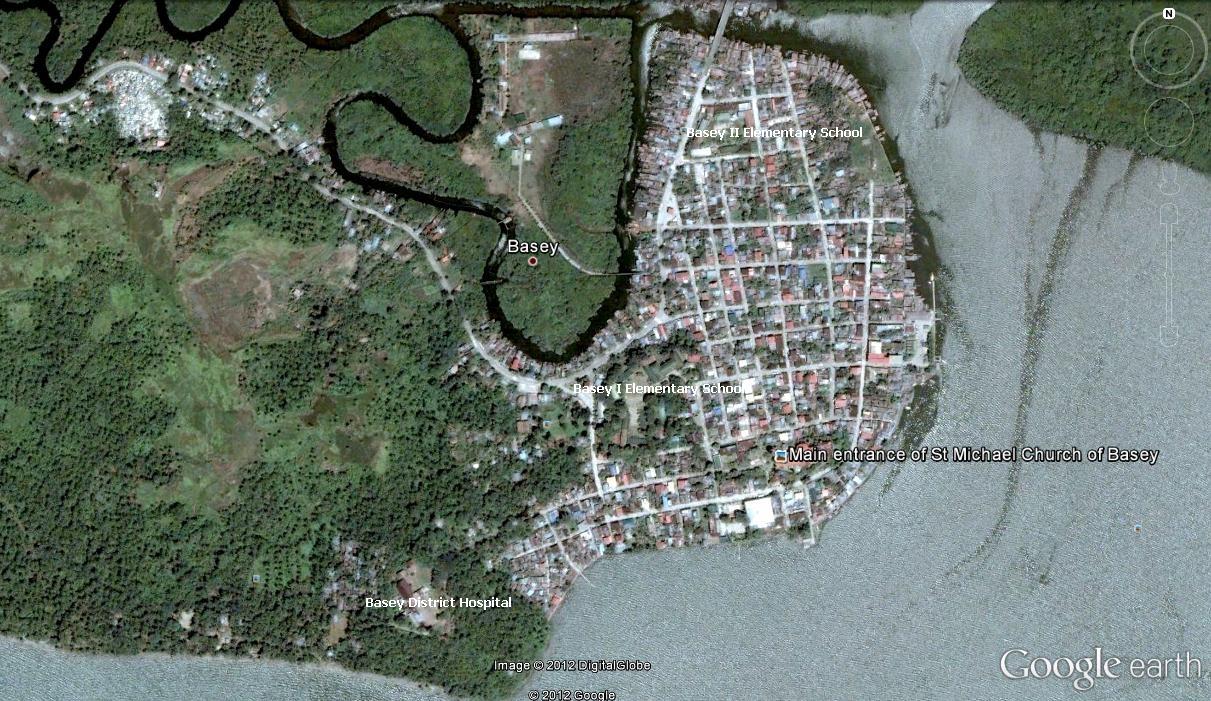 basey google earth map of