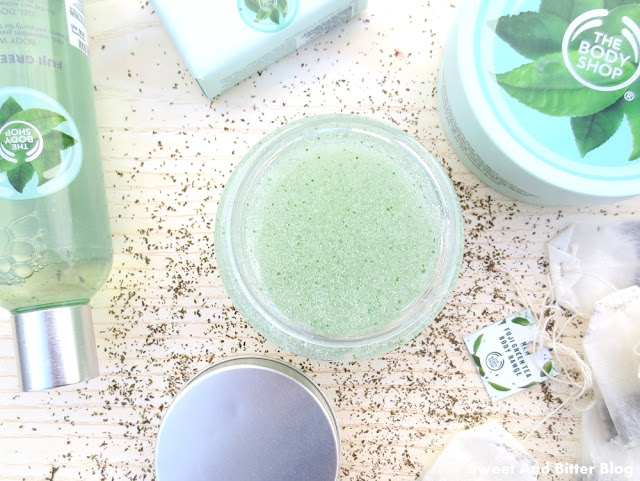 The Body Shop Fuji Green Tea Body Scrub Review India