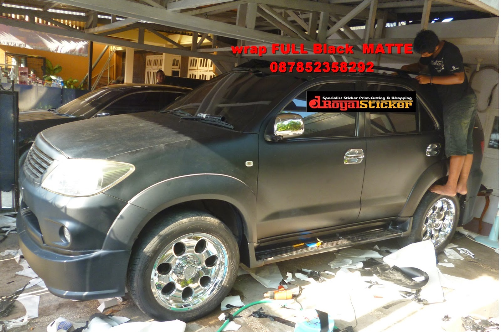 wrapping fortuner black matte