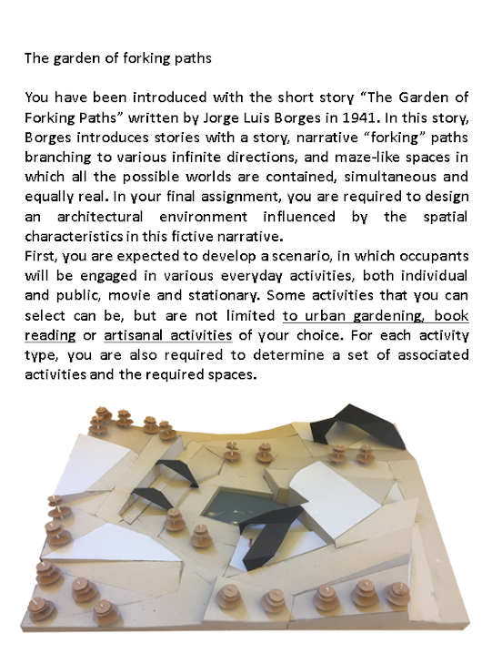 the garden of forking path essay Detailed prep sheet for the final exam borges's the garden of forking paths the composition and editing of your essay must be entirely your own work.