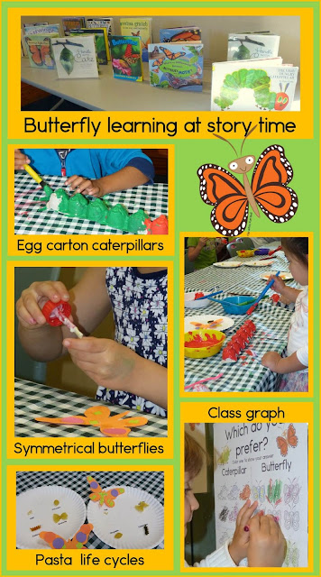 Lots of activities, ideas, and art projects to do while you're learning about butterflies with your preschool or kindergarten kiddos!