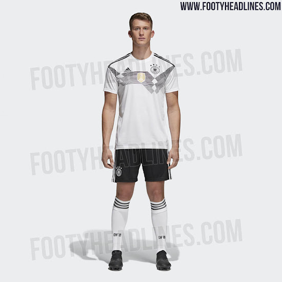 timeless design ce0cf ef1ab Germany 2018 World Cup Home Kit Released - Footy Headlines