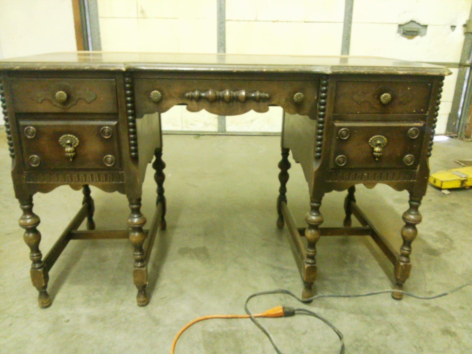 A Painted Antique Desk Makes the Grade | Postcards from the ...
