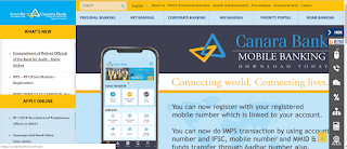 image showing canara bank web