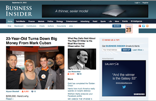 Business Insider, most popular blog