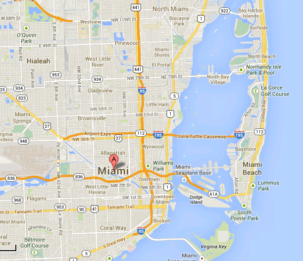 Miami Map - Where to stay in Miami?