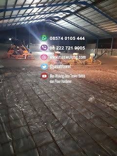Jasa trowel lantai beton flat floor superflat