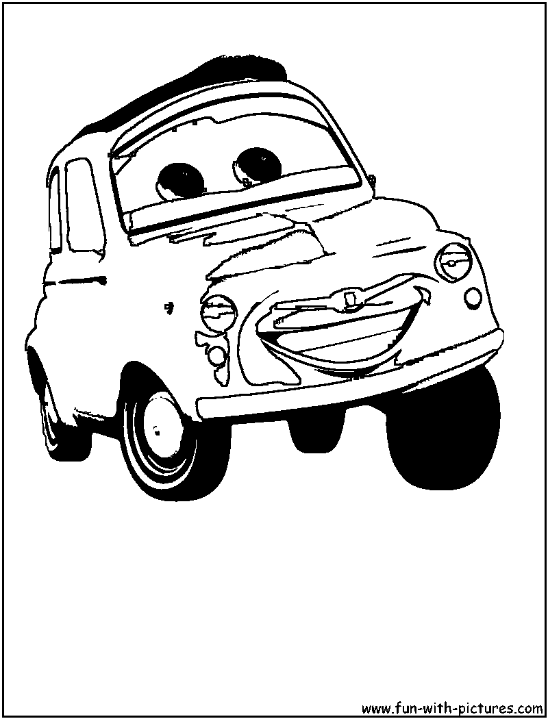 disney cars coloring pages luigi - photo#4
