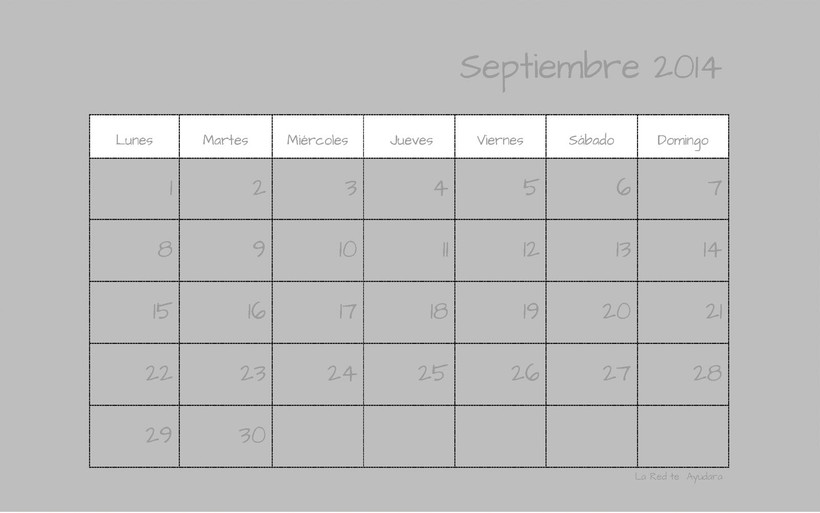 calendario septiembre 2014