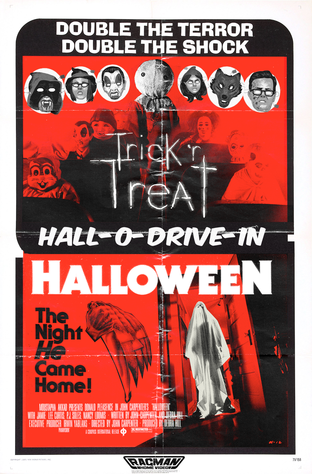 The Horrors Of Halloween Halloween Double Feature Posters