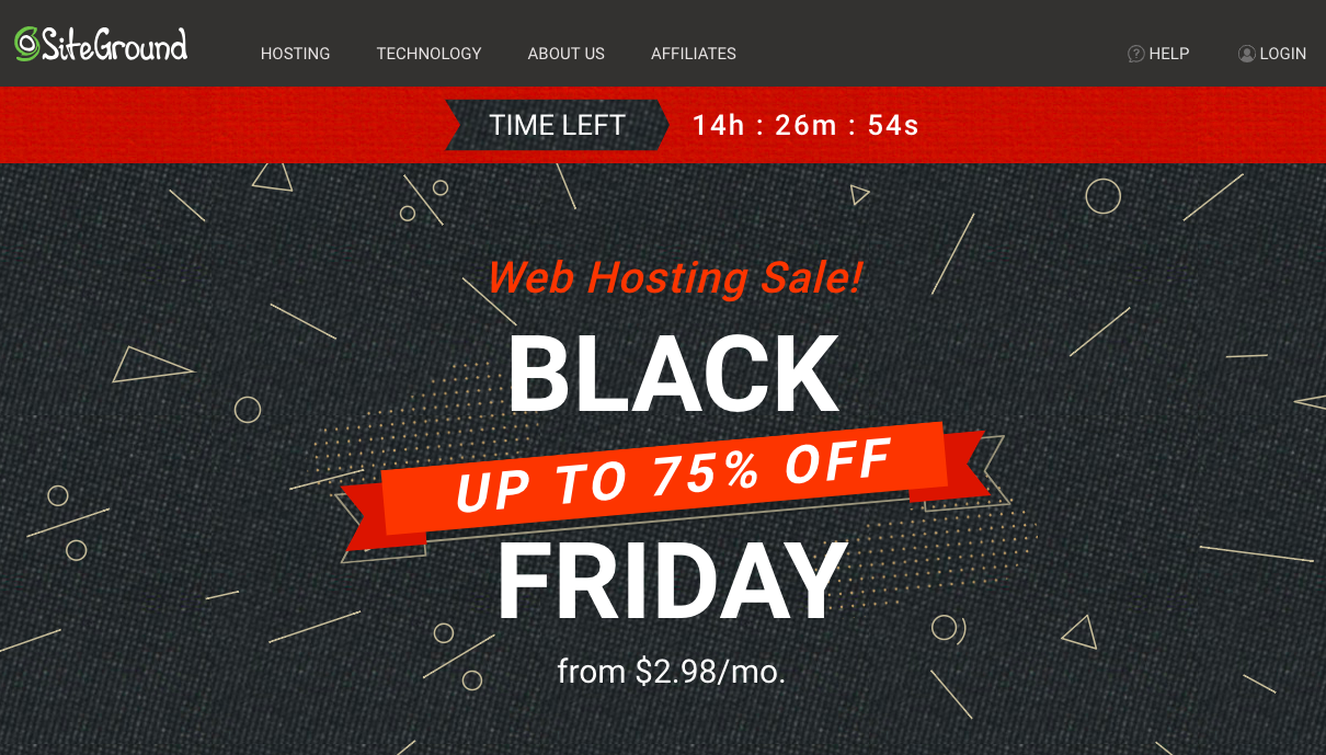 siteground black friday deal,siteground,black friday deal,hosting deals