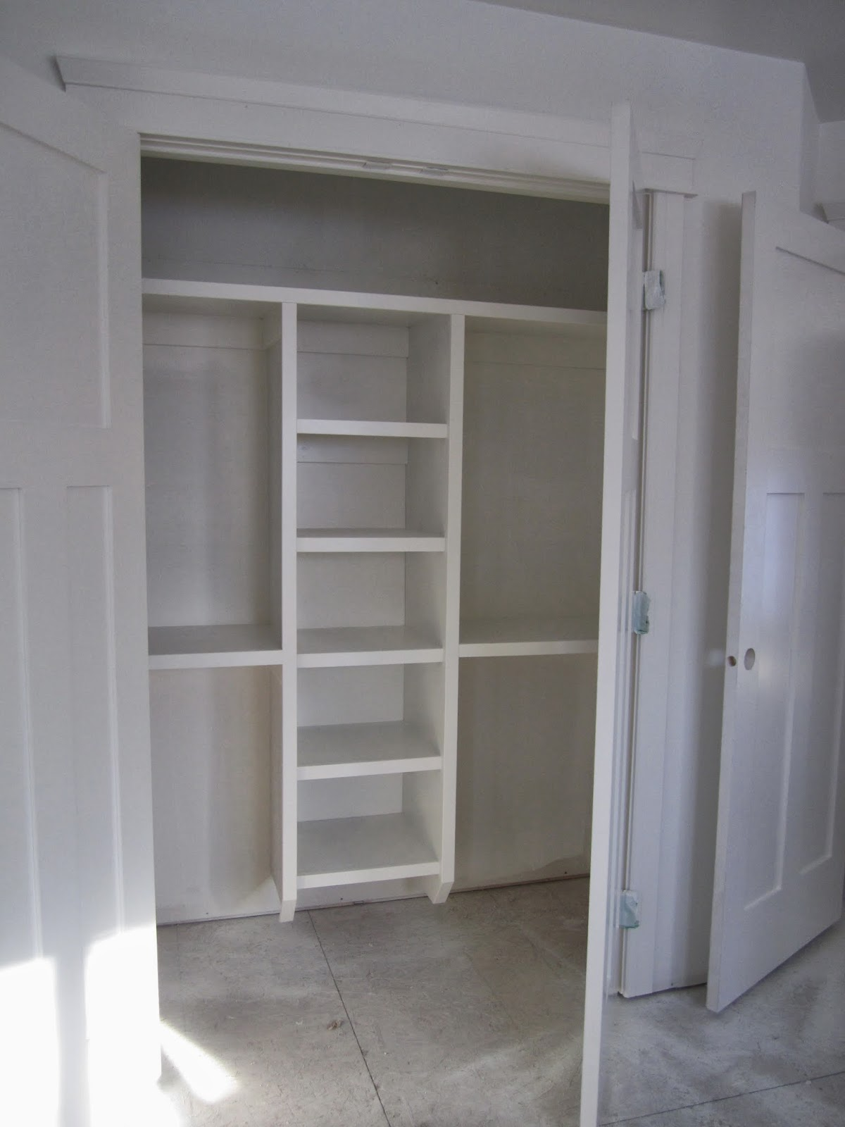 Building an infill in Westmount Shelves Trim and Paint