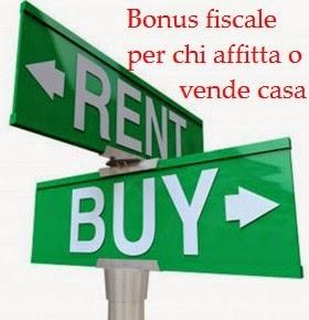 Decretro Sblocca Italia, novità sul bonus fiscale per affitto o vendita casa