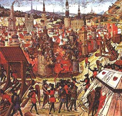 Tentara Salib menjarah Konstantinopel.