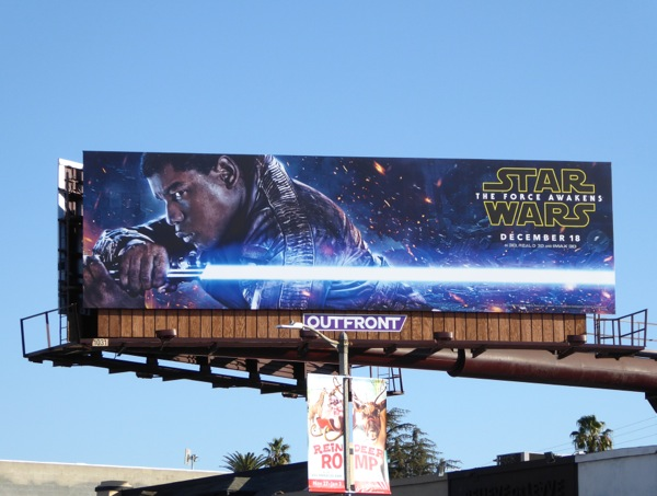 Star Wars The Force Awakens Finn billboard