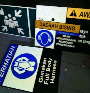tempat membuat rambu K3 - safety sign - rambu keselamatan di palembang