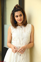 Taapsee Pannu in cream Sleeveless Kurti and Leggings at interview about Anando hma ~  Exclusive Celebrities Galleries 026.JPG