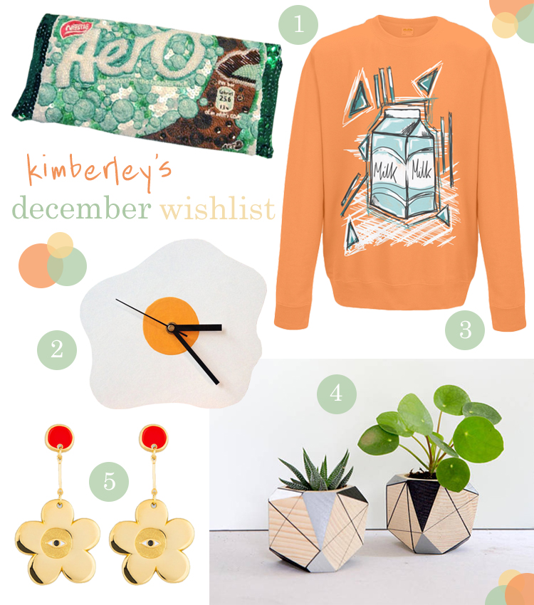 Blogger Christmas wishlist featuring Dita Felici, yayvm, Sleekit, Polymorphics and MIG x Milk Tooth