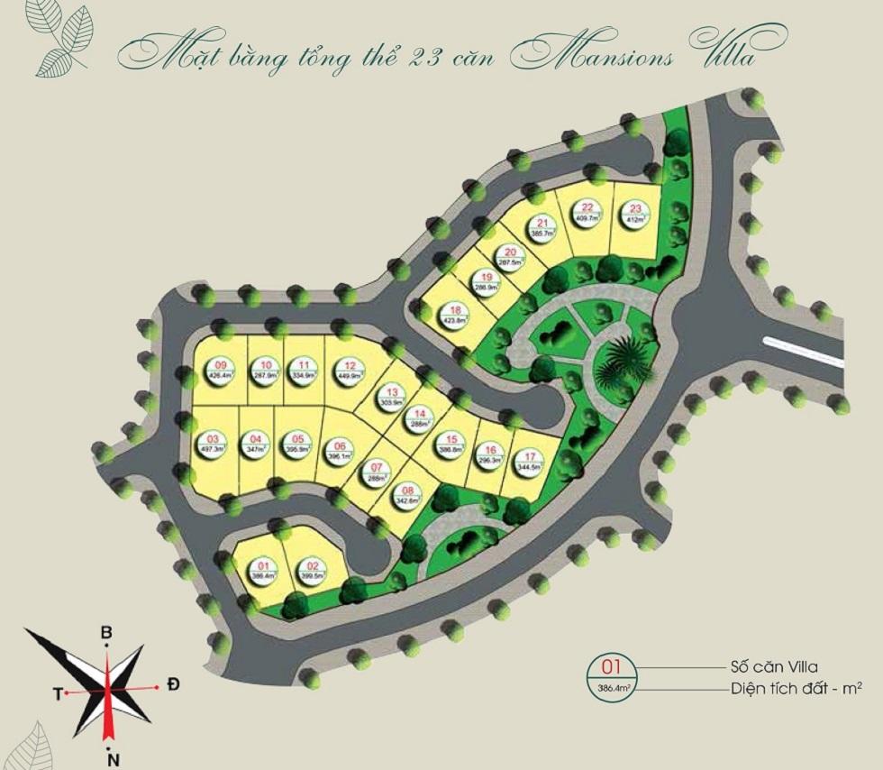 Mặt bằng Biệt Thự Đơn Lập Gamuda Gardens.