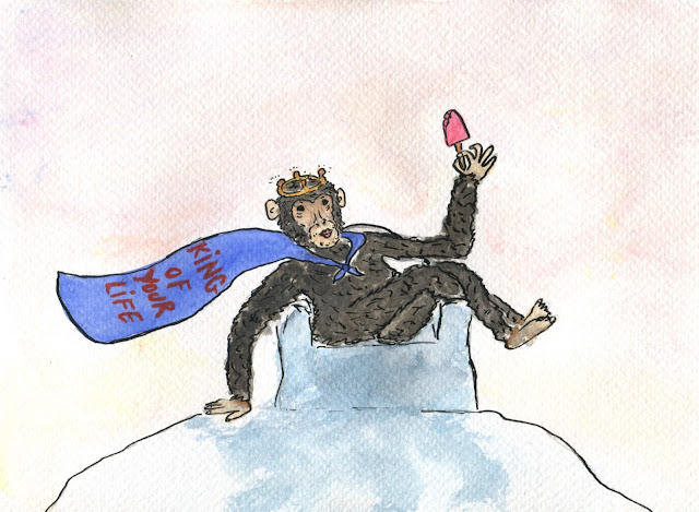 Je suis le chimpanzé glacé aka the King of your life