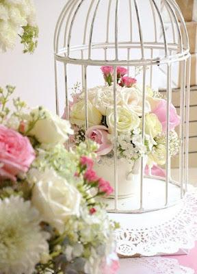 gaiola de pássaros decoração