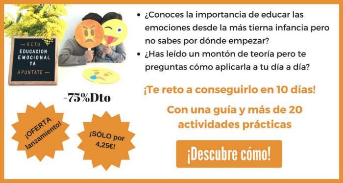 curso reto educación emocional niños cuentos, juegos, práctico, actividades día a día