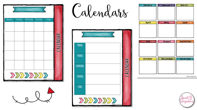 Calendar during a pbl unit