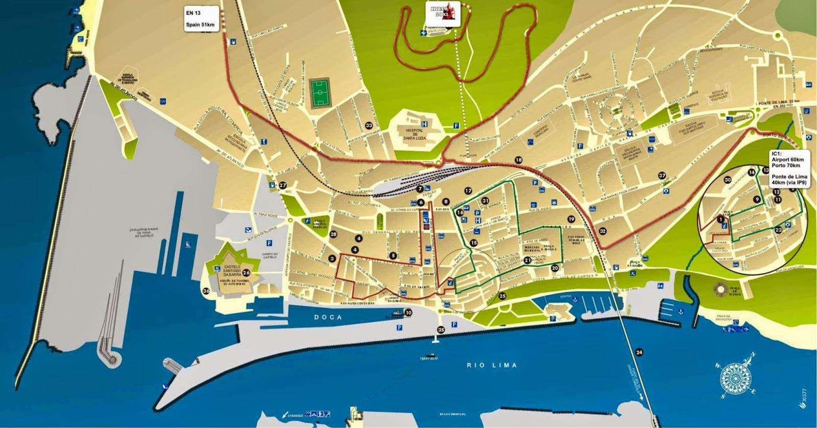 mapa de viana do castelo Mapas de Viana do Castelo   Portugal | MapasBlog mapa de viana do castelo