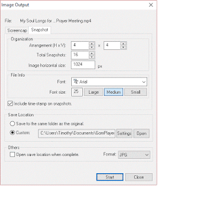 Gom Player Image Output