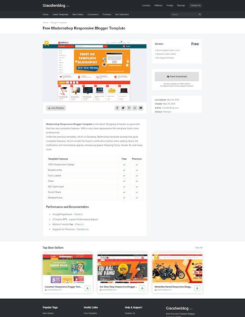 Free Templateify Premium Blogger Template 2020 - Giaodienblog.com