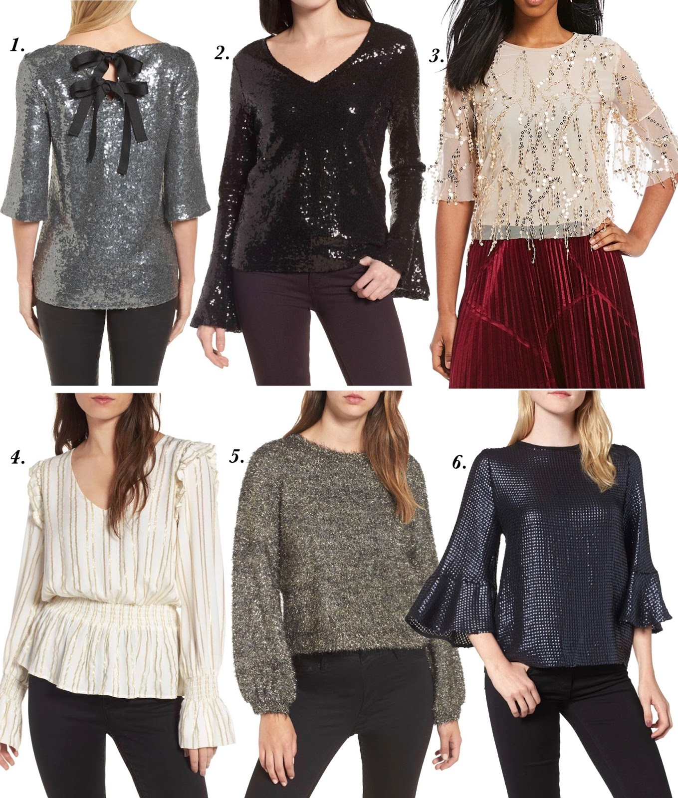 NYE Tops - Something Delightful Blog