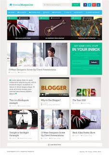 Social Mag Free 2.0 blogger template