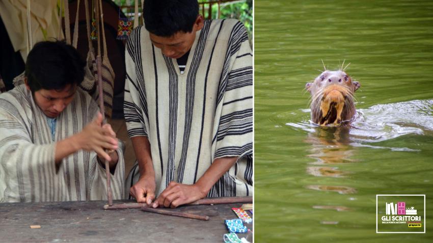 Gli indigeni Matsigenka e una lontra gigante