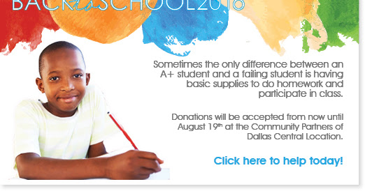 Back to School 2016 at Community Partners of Dallas