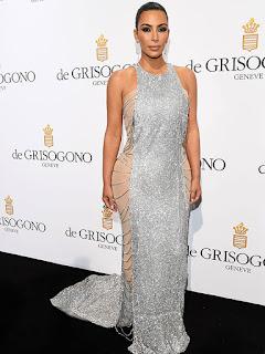 Kim Kardashian sparkling silver gown, Kim Kardashian Cannes, Cannes Film Festival Kim Kardashian Cannes Film Festival